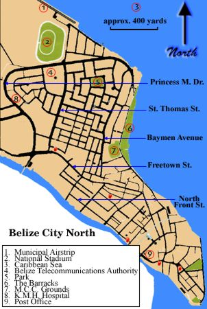 BelizeNet The Complete Directory Index Search Engine Of - Belize tourist map